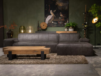bank met chaise lounge