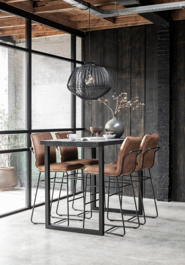 bartafel zwart hout