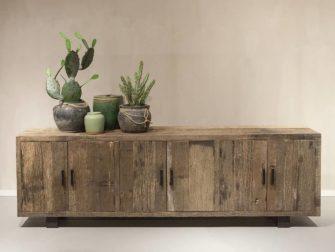 tv dressoir oud hout