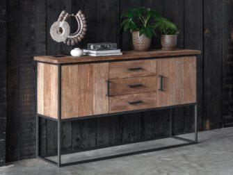 dressoir hout metaal