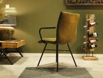 groene stoel stalen frame