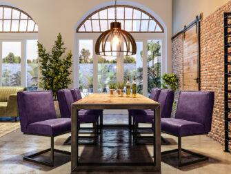 paarse eetkamerstoelen