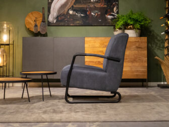 donkerblauwe fauteuil