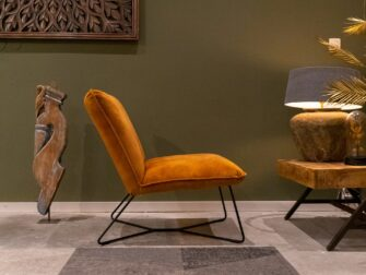 stoere stoffen fauteuil