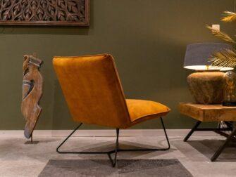 stijlvolle fauteuil in goud