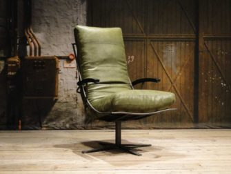 inudstriele groene stoel