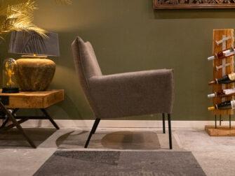Comfortable stoffen fauteuil
