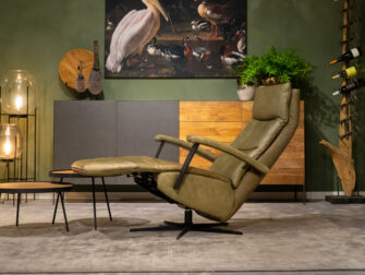 lederen fauteuils groen