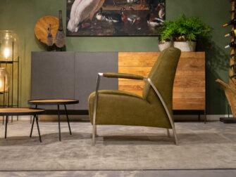 groene luxe fauteuil