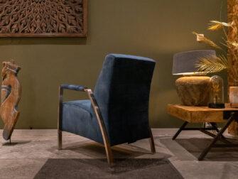 blauwe industriële fauteuil