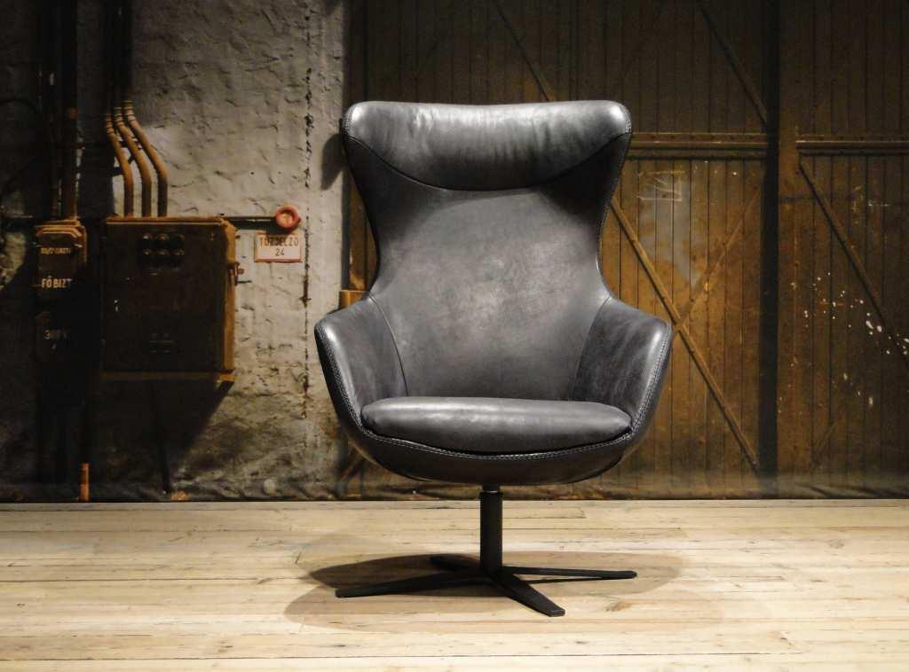 zwarte fauteuil