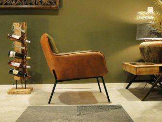 fauteuil met industrieel frame