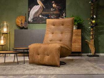 fauteuil leer bruin