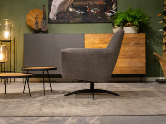 stoffen fauteuil taupe
