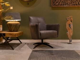 donkergrijze fauteuil