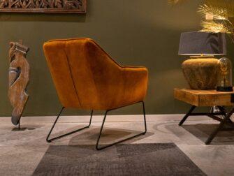 fauteuil gouden stof