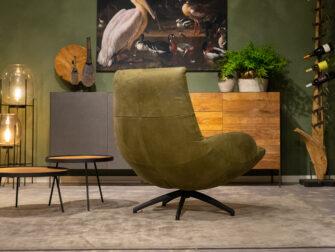 brede groene fauteuil