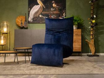 relax stoelen blauw velours