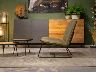 groene brede stoel