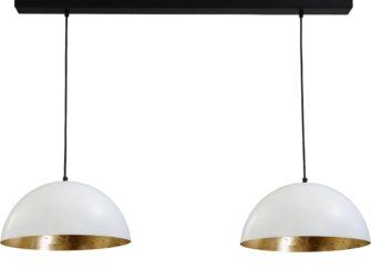 hanglamp white outside goldleaf inside