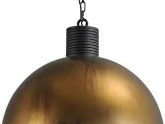 hanglamp aged brass outside aged brass inside