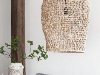 rieten hanglamp