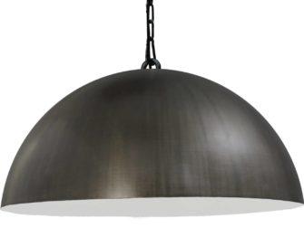 hanglamp gunmetal outside white inside