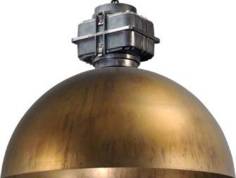 industriele hanglamp messing