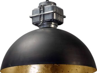 industriele hanglamp gun metal goldleaf