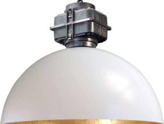 industriele hanglamp wit met bladgoud
