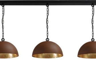 hanglamp rust outside goldleaf inside