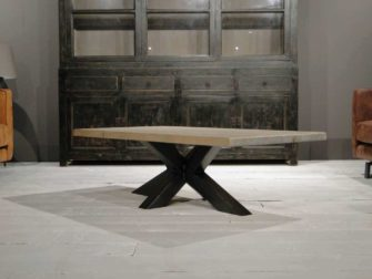Industriële matrix salontafel Antibes