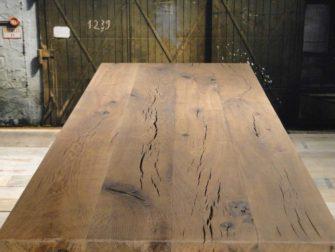 Enkel gerookt oud eiken - 4 planken extra rustiek 6cm