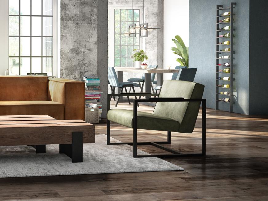 fauteuil olijf groen