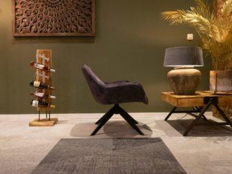 Grijze moderne fauteuil