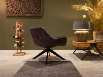 comfortabele fauteuil in stof