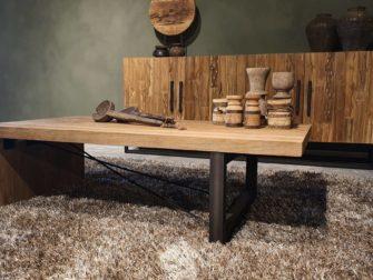 salontafel houten poot