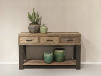 side table oud hout