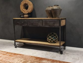 side table staal