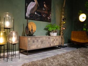 Ruig tv meubel met staal