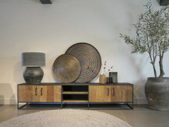 stoer houten tv-meubel