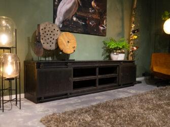 tv-meubel met schuifdeuren