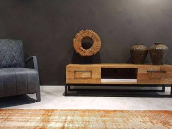 Industrieel tv meubel met lades