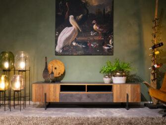 Industrieel tv meubel