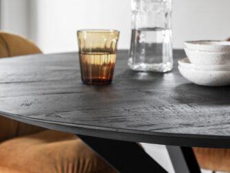ronde tafel reclaimed teak