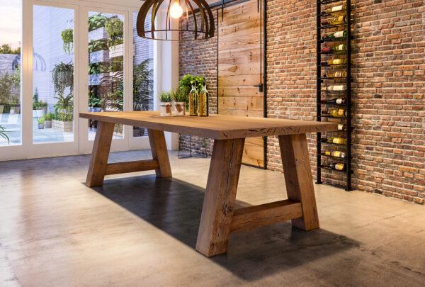 eiken tafel houten a poot