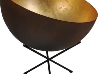 tafellamp rust outside goldleaf inside