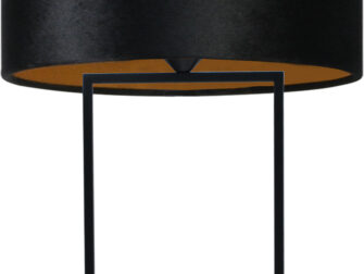 vloerlamp zwarte kap
