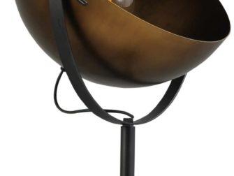 bronzen industriele lamp