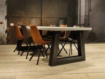 op maat gemaakte betontafel pontedra